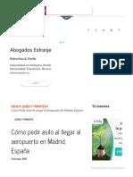Cómo Pedir Asilo Al Llegar Al Aeropuerto en Madrid, España - InmigrantesEnMadrid.com