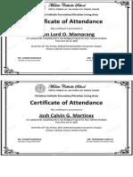 Bridging Certificate