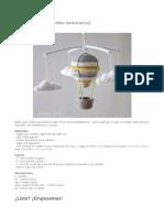 Globo Aerostático a crochet - patrón PDF