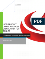 Iron Product Choice and Dose Calculation20052016