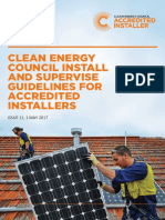 CLEAN ENERGY COUNCIL INSTALL AND SUPERVISE GUIDELINES FOR ACCREDITED INSTALLERS