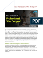 How to Become a Professional Web Designer