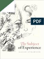 Galen Strawson - The subject of experience-Oxford University Press (2017).pdf