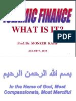 ISLAMIC FINANCE WHAT IS IT ?