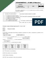 389804764 140385053 Prova de Matematica 6 º Ano 4º Bimestre 1 Docx