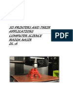 3d Printers and Their Applications