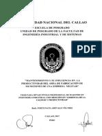 Tesis Nac. - Mantenimiento y Su Influencia en la productividad del area de fabricación de municiones.pdf