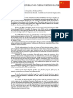General Position Paper - People's Republic of China