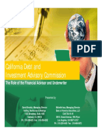 CDIAC Role of FA and Underwriter