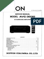 Denon AVC 3030 Service Manual