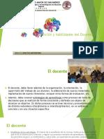 FUNCIÓN Y HABILIDADES DEL DOCENTE