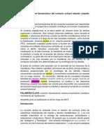 Un posible papel biomecánico del contacto oclusal relación cúspide traduccion de articulo