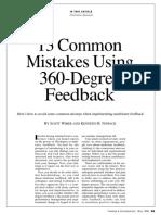 Wimer y Nowack 13 Mistakes Using 360 Degree Feedback