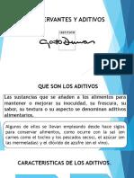 Diapositivas Aditivos y Conservantes