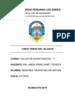 Universidad Peruana Los Andes- 5 Temas