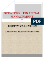 Sfm Equity Additional Practice Questions