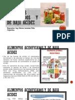 Alimentos Acidificados y de Baja Acidez 2
