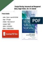 Medical and surgical nursing assessment