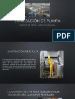 Sanitización de Planta3
