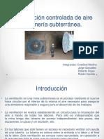 proyecto ventilacion minera