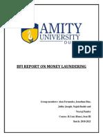 Report on Money Laundering