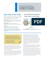 Comparing Micron Ratings Technical Sheet