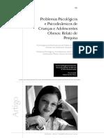 Problemas Psicologicos E Psicodinamicos De Criancas
