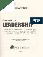 Cartea de Leadership - Anthony Gell