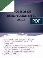 Procesos de Desinfeccion en El Agua