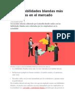 Las 10 Habilidades Blandas Más Solicitadas en El Mercado Laboral
