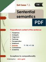 Sentential Semantics سليمان
