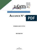 Decreto Ejecutivo N 39697-JP