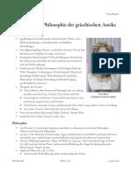 Übersicht zur Mythologie und Philosophie im antiken Griechenland