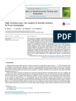 High Resolution Pore Size Analysis in Met 2016 Case Studies in Nondestructiv