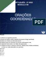 Português - 2 o Ano Módulo 59 Orações Coordenadas