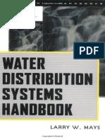 Water Distribution System Handbook - L Mays (McGraw-Hill Professional) - 1999 [0071342133]