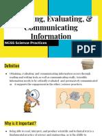 obtain evaluate   communicate