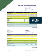 Analisis de Costos Unitaros General