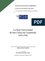 La Real Univ de Guatemala 1676‐1790 Adriana