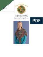 Crochet Pattern Beginners Triangle Shawl