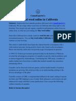 Buy real weed online in California