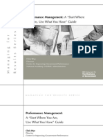 Performance Management - Start Where You Are, Use What You Have