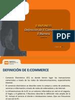 Definiciones de E-Commerce E-Business