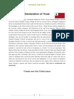 Smoking Wolf Declaration of Moorish Sovereign Trust