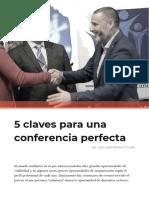 5 Claves Para Una Conferencia Perfecta
