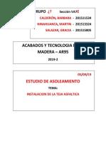 Informe Tejas Asfalticas