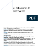 Algunas Definiciones de Matemáticas