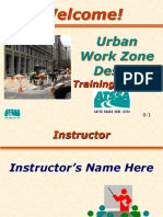 Executive Overview of Urban Work Zone Design