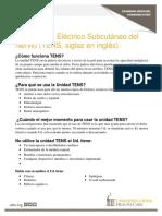 Transcutaneous Electrical Nerve Stimulator Tens - Spanish