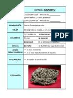 Fichas Rocas y Minerales